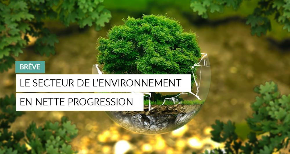 Les Appels D'offres Relatifs Aux Métiers Classés «Environnement» Ont Le Vent En Poupe