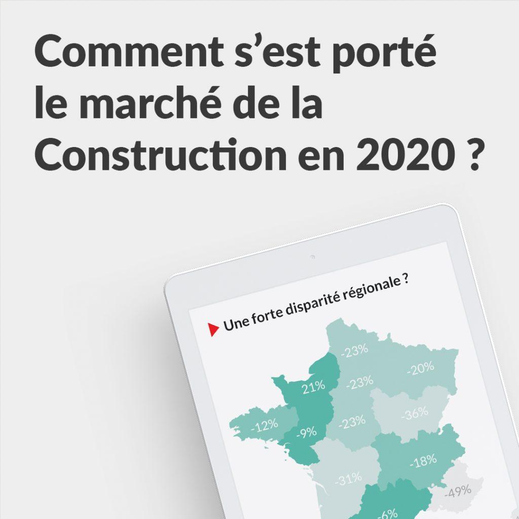 Illustration infographie des marchés de la construction