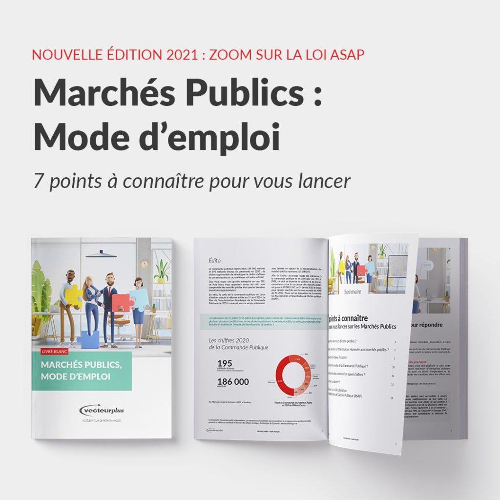 Illustration du livre blanc marchés publics : mode d'emploi