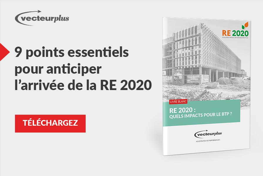 Illustration et bouton de téléchargement du livre blanc sur le réglementation environnementale 2020